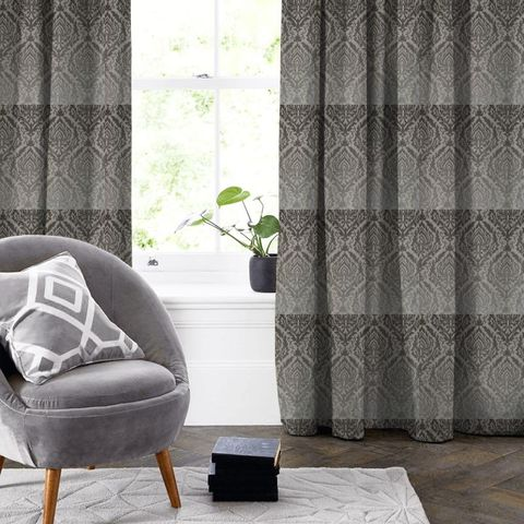 Auvergne Charcoal Made To Measure Curtain