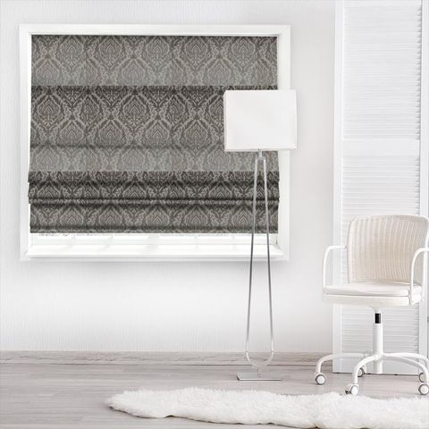 Auvergne Charcoal Made To Measure Roman Blind