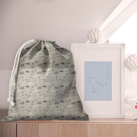 Baa Baa Charcoal Pyjama Bag