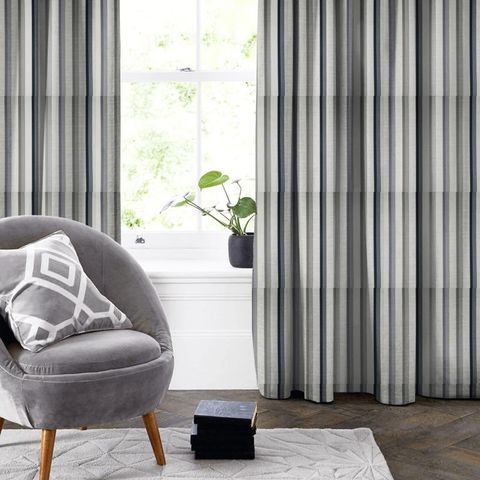 Driftwood Charcoal Made To Measure Curtain