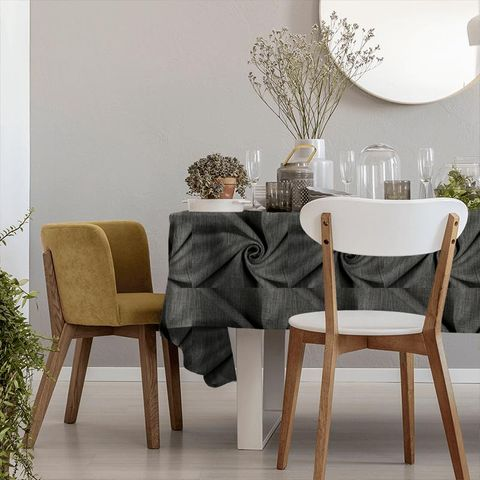 Star Charcoal Tablecloth