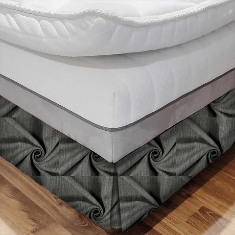 Star Charcoal Bed Base Valance