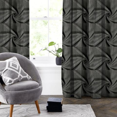 Star Charcoal Made To Measure Curtain