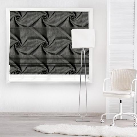 Star Charcoal Made To Measure Roman Blind