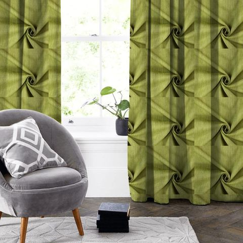 Moonlight Evergreen Made To Measure Curtain