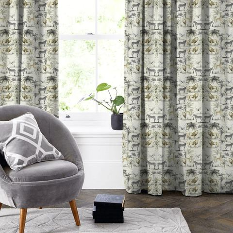 Longleat Chartreuse Made To Measure Curtain