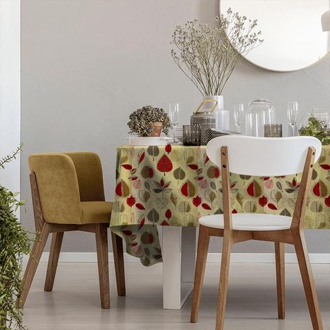 Maple Red Berry Tablecloth