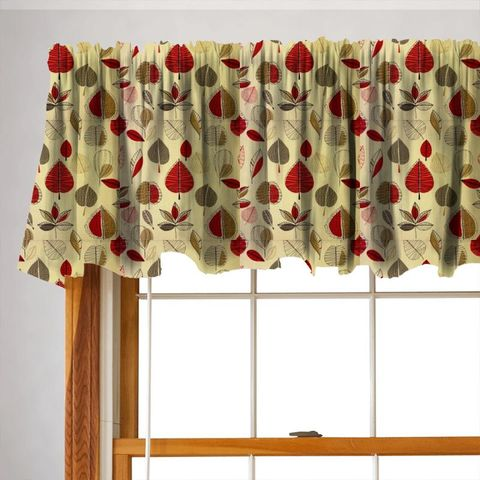 Maple Red Berry Valance