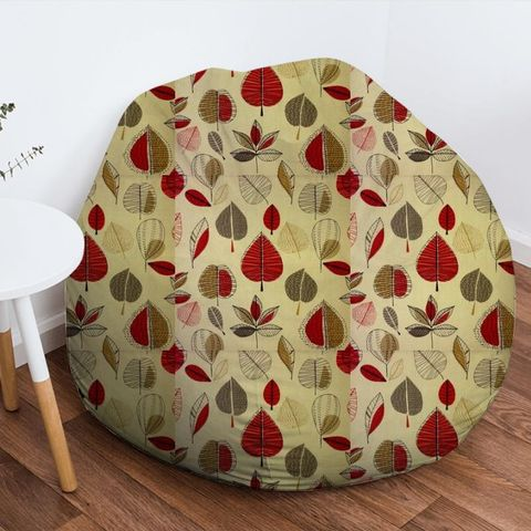 Maple Red Berry Bean Bag