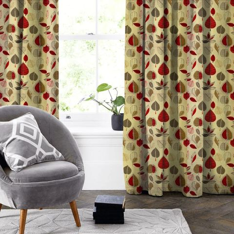 Maple Red Berry Made To Measure Curtain