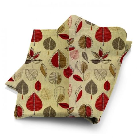 Maple Red Berry Fabric