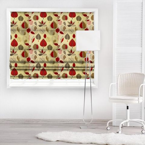 Maple Red Berry Made To Measure Roman Blind