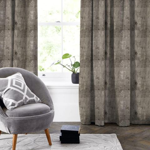 Aphrodite Anthracite Made To Measure Curtain