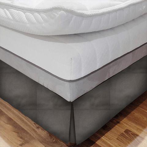 Alaska Grey Bed Base Valance
