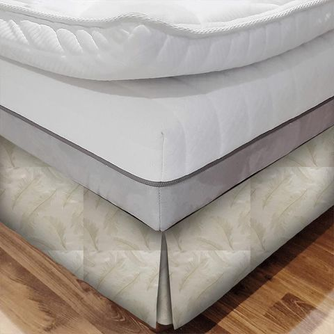 Quill Champagne Bed Base Valance
