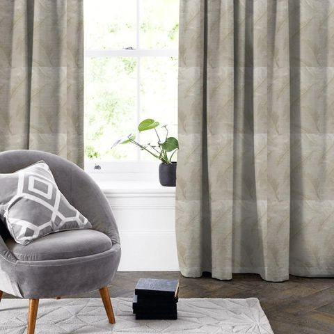 Quill Champagne Made To Measure Curtain