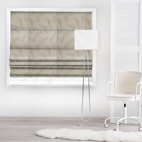 Quill Champagne Made To Measure Roman Blind