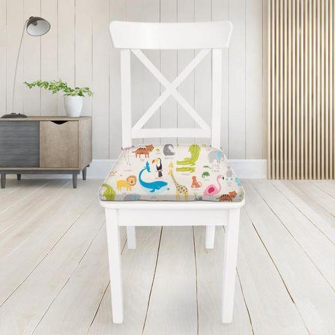 Animal Magic Tutti Frutti / Chalk Seat Pad Cover