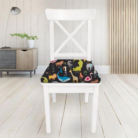 Animal Magic Tutti Frutti / Blackboard Seat Pad Cover