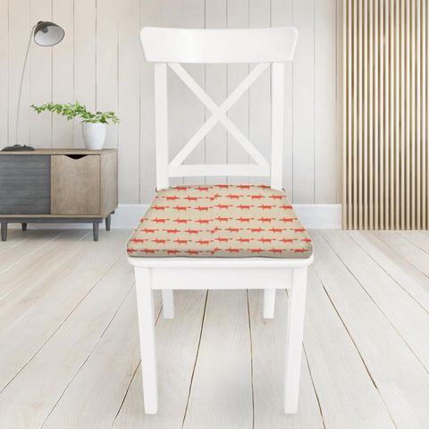 Little Fox Ginger Seat Pad Cover