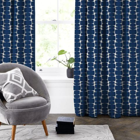 Lohko Indigo / Jasmine Made To Measure Curtain