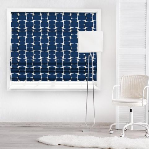 Lohko Indigo / Jasmine Made To Measure Roman Blind