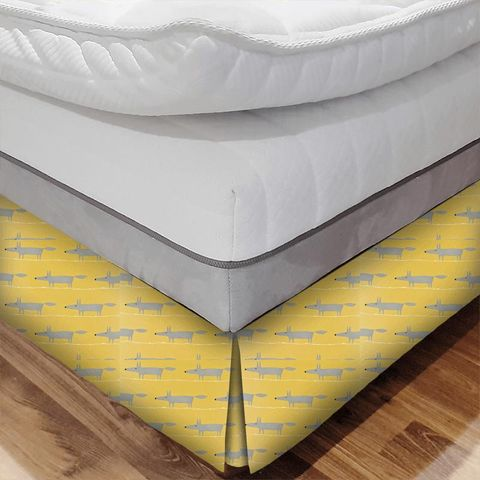 Mr Fox Sunflower Gull And Chalk Bed Base Valance