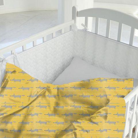 Mr Fox Sunflower Gull And Chalk Cot Duvet Cover