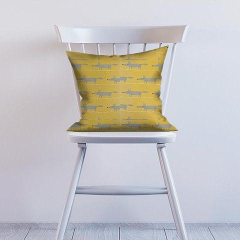 Mr Fox Sunflower Gull And Chalk Cushion