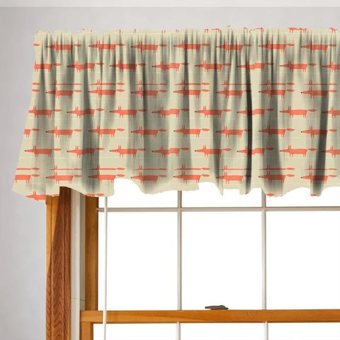 Mr Fox Neutral And Paprika Valance