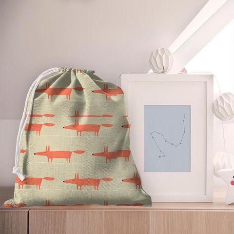 Mr Fox Neutral And Paprika Pyjama Bag