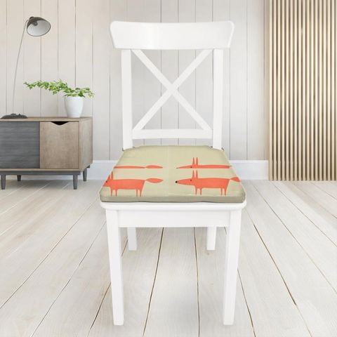 Mr Fox Neutral And Paprika Seat Pad Cover