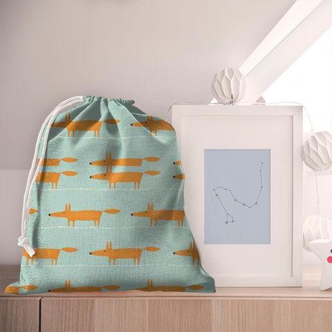 Mr Fox Sky Tangerine And Chalk Pyjama Bag