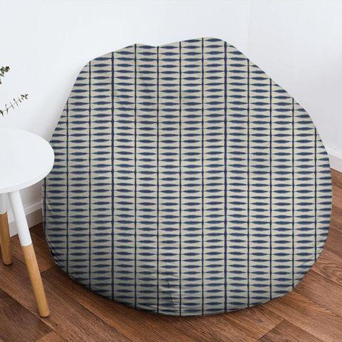 Shibori Indigo / Linen Bean Bag