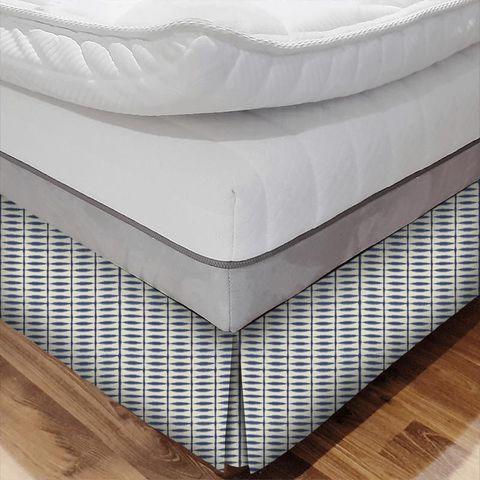 Shibori Indigo / Linen Bed Base Valance