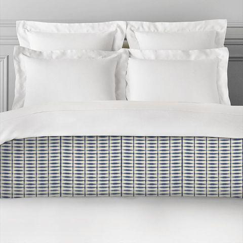 Shibori Indigo / Linen Bed Runner