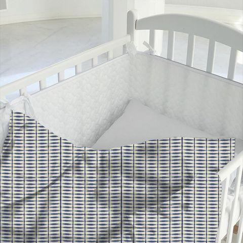 Shibori Indigo / Linen Cot Duvet Cover
