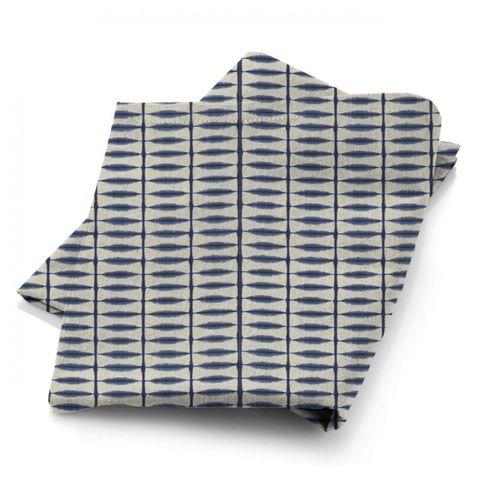 Shibori Indigo / Linen Fabric