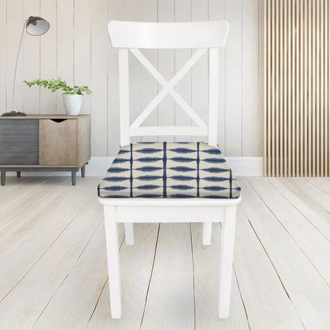 Shibori Indigo / Linen Seat Pad Cover