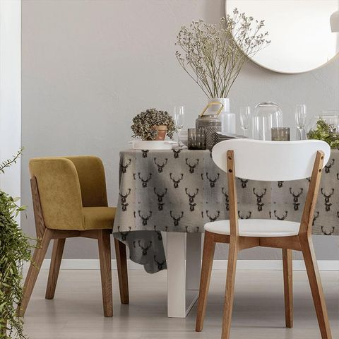 Stags Charcoal Tablecloth
