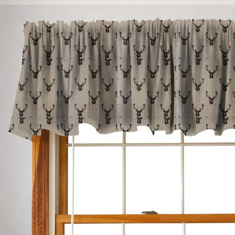 Stags Charcoal Valance