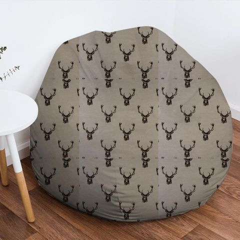 Stags Charcoal Bean Bag