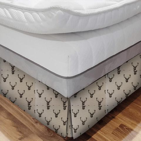 Stags Charcoal Bed Base Valance