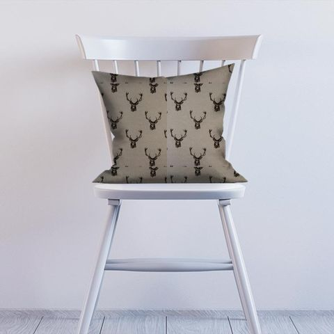 Stags Charcoal Cushion