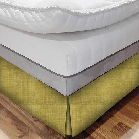 Scribble Olive Bed Base Valance