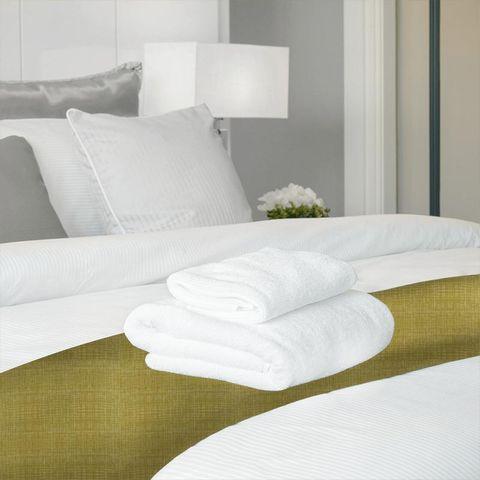 Scribble Olive Bed Runner