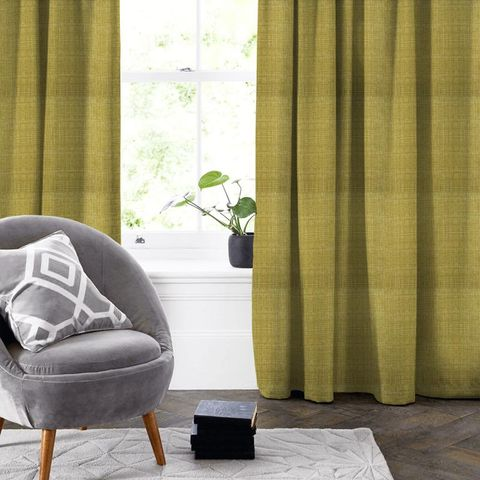 Scribble Olive Made To Measure Curtain