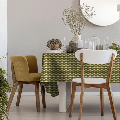 Two Colour Stem Olive Tablecloth