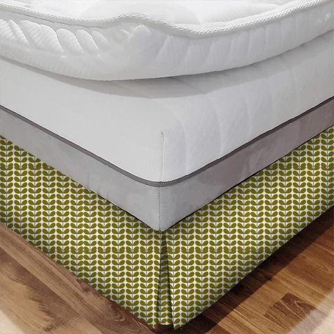Two Colour Stem Olive Bed Base Valance