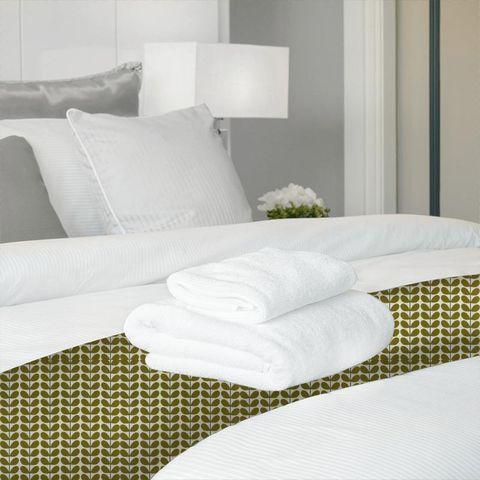 Two Colour Stem Olive Bed Runner